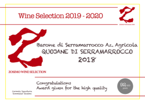 92 punti QUOJANE 2018 ZOSIMO WINE SELECTION
