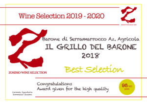 95 punti GRILLO DEL BARONE 2018 ZOSIMO WINE SELECTION