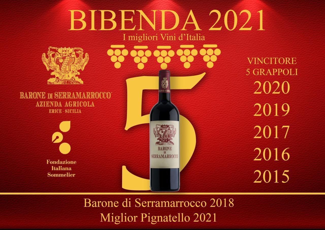 5 grappoli Bibenda 2021 6 volte vincitore