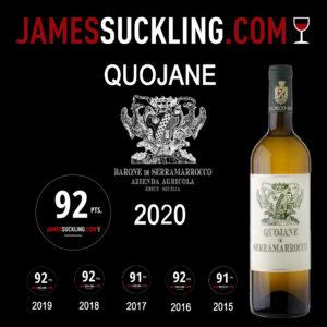 QUOJANE JAME SUCKLING 2020 2015
